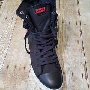 Men's Levis Hi Zip Black Sneakers Size 9